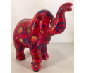 Moneybank Elephant - Red with Cirkels
