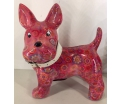 Boomer - Moneybank Dog - Pink with flowers