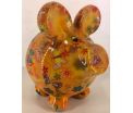 Ziggy Moneybank Pig - Yellow with butterflys