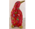 Cezar - Moneybank pinguin - Red with flamingo's