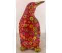 Cezar - Moneybank pinguin - Red with cirkels