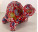 Quickie - Moneybank Turtle - Red with flowers