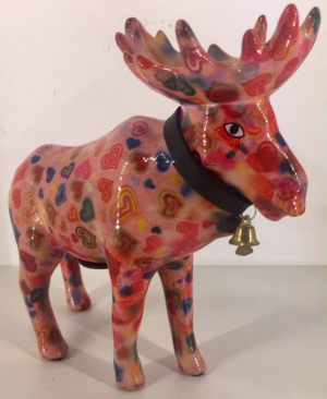 Marius - Moneybank moose - Pink with harts