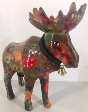 Marius - Moneybank moose - green deco