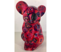 Claire Moneybank Koala - Pink with squares