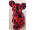 Claire Moneybank Koala - Red with flowers