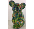 Claire Moneybank Koala - Green with flowers