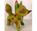 Roxie - Moneybank Fox - Green with flowers