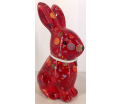 Nina - Moneybank rabbit - Red with candy and lollipop