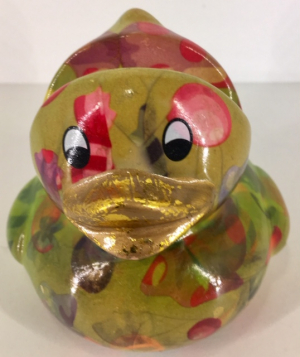 Ducky - glasses stand duck - Green with candy