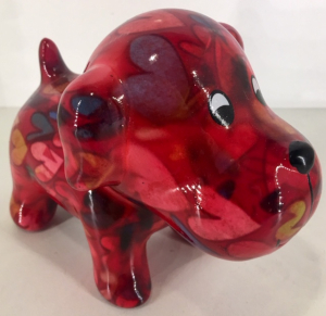 Petit-Pidou - Bruno - Mini Moneybank - Red