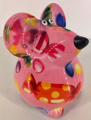 Petit-Pidou Pinkies Mouse - Mini Moneybank - Pink Candy