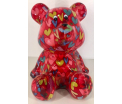 Cyril - Moneybank Bear - Purple with Hearts