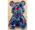 Cyril - Moneybank Bear - Blue with Hearts