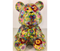 Cyril - Moneybank Bear - Green with flowers