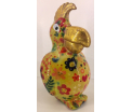 Coco - Moneybank Parrot - Yellow with flowers