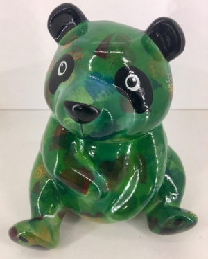 Zsa Zsa Moneybank Panda - Dark Green