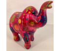 Petit Pidou Trunkies Elephant - Red with Circles