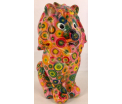 Leo Moneybank Lion - Pink with Circles Multicolour