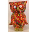 Big Bo - Moneybank Owl XL - Red with Flowers