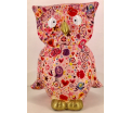 Big Bo - Moneybank Owl XL - Pink with Flowers