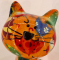 Caramel - Moneybank Cat - Orange with Umbrellas