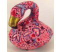Lilly Moneybank Flamingo - Pink with Hearts