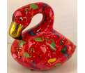 Lilly Moneybank Flamingo - Red with Flamingos
