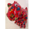 Tito Moneybank Dinosaur - Red with Cars
