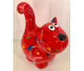 Dorothy Moneybank Cat - Red
