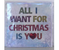 Kerstkaart - All I Want - Text inside: Merry Christmas and a Happy New Year