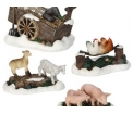 Farm scenery, set of 4