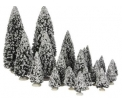 Evergreen tree, set of 21 assorted
