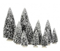 Evergreen tree, set of 12 assorted