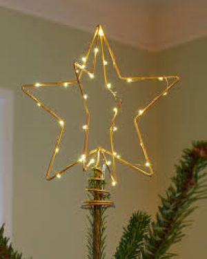 Christmas top gold H25cm/30 LED's - indoor use only