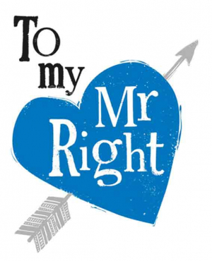 The Bright Side - To my Mr Right - 17x14cm - Inclusief envelop