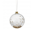 Dream bauble - Stars feather, gold - Big 10,5cm - Glass with metal hanger and different fillings - Räder - Design Stories,