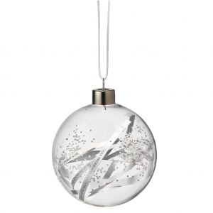 Dream bauble - Paper stripes - Small 7,5cm - Glass with metal hanger and different fillings - Räder - Design Stories,
