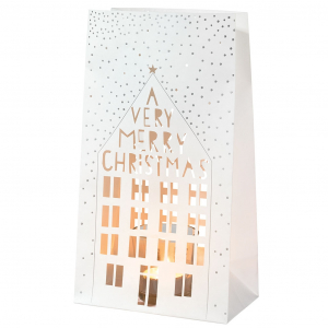 Light bag - A very very Christmas - set of 2 - Tea light glass included - Paper - 15x27,5x9cm - Räder - Design Stories,