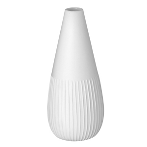 Mini vase - lines - 13cm - porcelain, glazed inside, unglazed external.